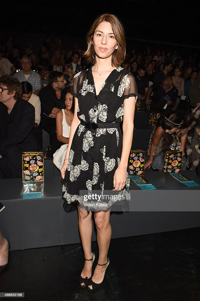 Filmmaker <a gi-track='captionPersonalityLinkClicked' href=/galleries/search?phrase=Sofia+Coppola&family=editorial&specificpeople=202230 ng-click='$event.stopPropagation()'>Sofia Coppola</a> attends Anna Sui Spring 2016 during New York Fashion Week: The Shows at The Arc, Skylight at Moynihan Station on September 16, 2015 in New York City.