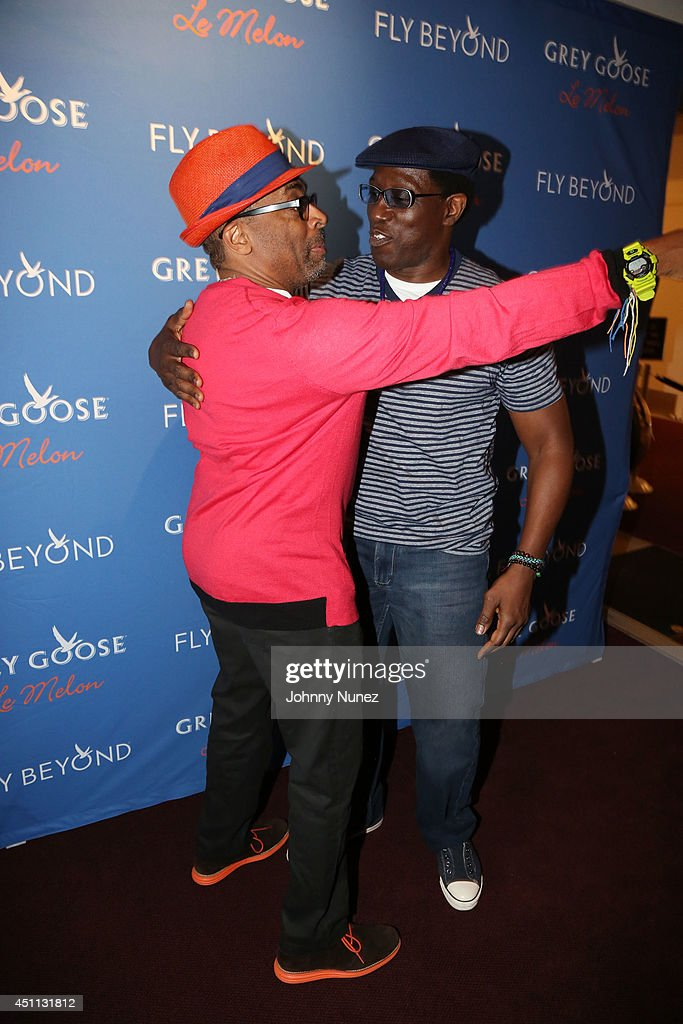 Filmmaker Spike Lee and actor Wesley Snipes attend Spike Lee's 'Da Sweet Blood Of Jesus' cast and crew special screening at DGA Theater on June 23, 2014 in New York City.