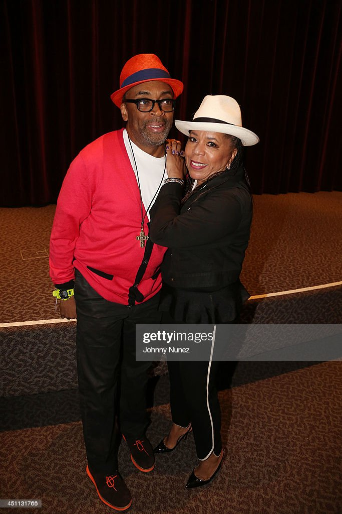 Filmmaker Spike Lee and songwriter/producer Valerie Simpson attend Spike Lee's 'Da Sweet Blood Of Jesus' cast and crew special screening at DGA Theater on June 23, 2014 in New York City.