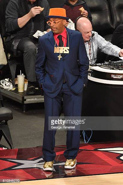 Filmmaker Spike Lee attends The 2016 NBA AllStar Game at Air Canada Centre on February 14 2016 in Toronto Canada