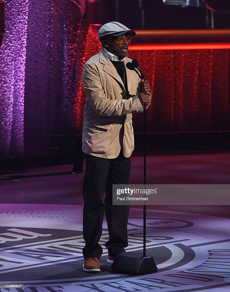 Filmmaker Spike Lee onstage at the 16th Annual Webby Awards at Hammerstein Ballroom on May 21, 2012 in New York City.