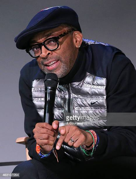 Filmmaker Spike Lee speaks during the Apple Store Soho Presents Meet The Filmmaker Spike Lee And Zaraah Abrahams 'Da Sweet Blood of Jesus' at Apple...