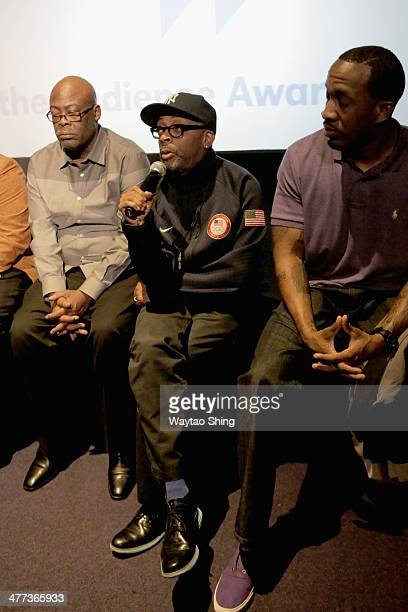 Filmmaker Spike Lee speaks onstage at the 'Evolution of a Criminal' Photo Op and QA during the 2014 SXSW Music Film Interactive Festivalat AMC...