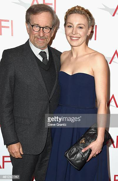 Filmmaker Steven Spielberg and actress Juliet Rylance attend the 15th Annual AFI Awards at Four Seasons Hotel Los Angeles at Beverly Hills on January...