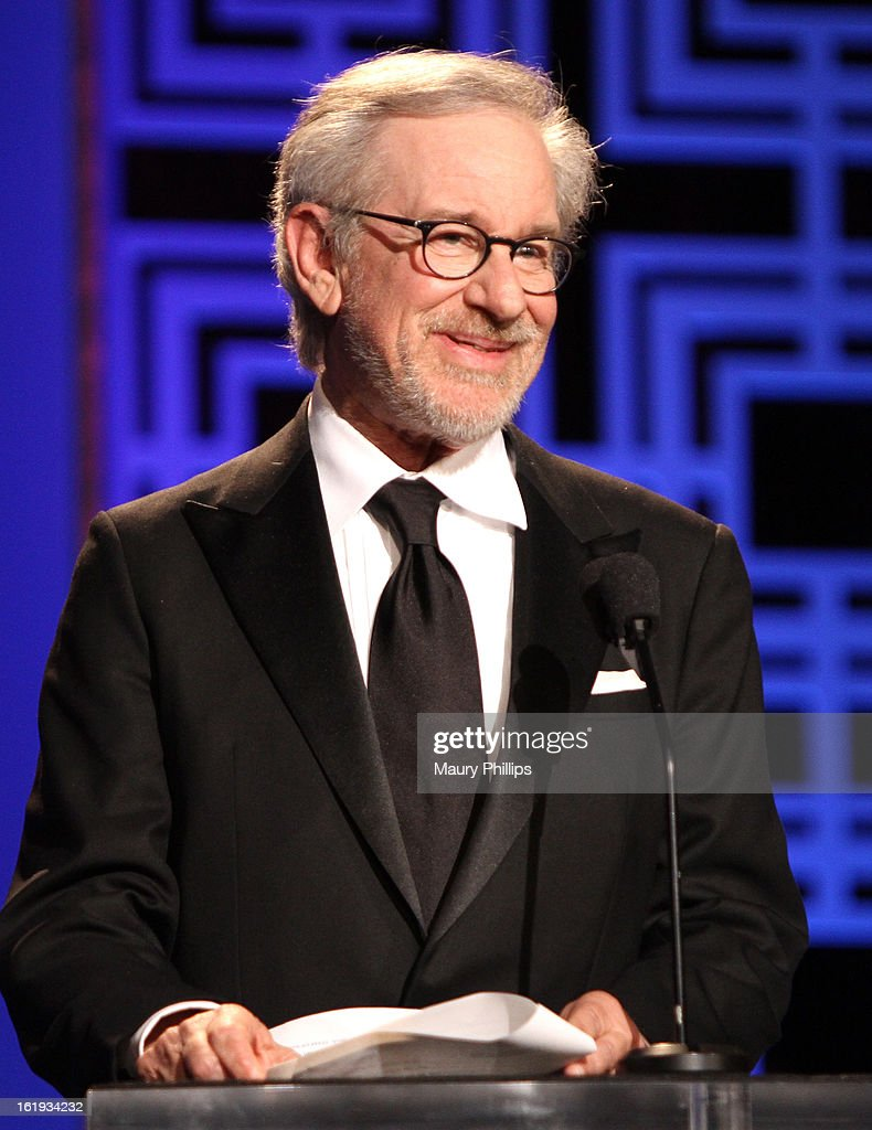 Filmmaker Steven Spielberg speaks onstage at the 2013 WGAw Writers Guild Awards at JW Marriott Los Angeles at L.A. LIVE on February 17, 2013 in Los Angeles, California.