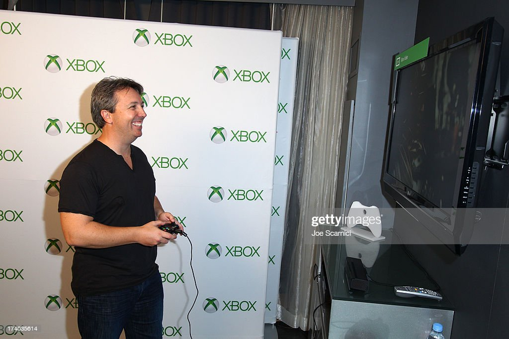 Filmmaker Stuart Beattie plays Xbox One at Comic-Con 2013 at the Hard Rock Hotel San Diego on July 19, 2013 in San Diego, California.
