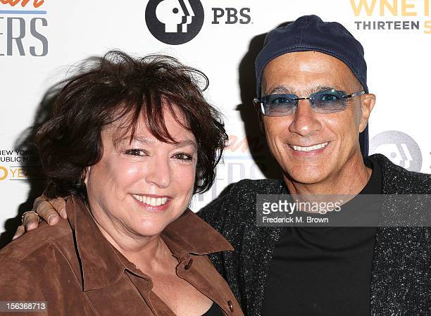 Filmmaker Susan Lacy and Jimmy Lovine attend the Premiere Of 'American Masters Inventing David Geffen' at The Writers Guild of America on November 13...