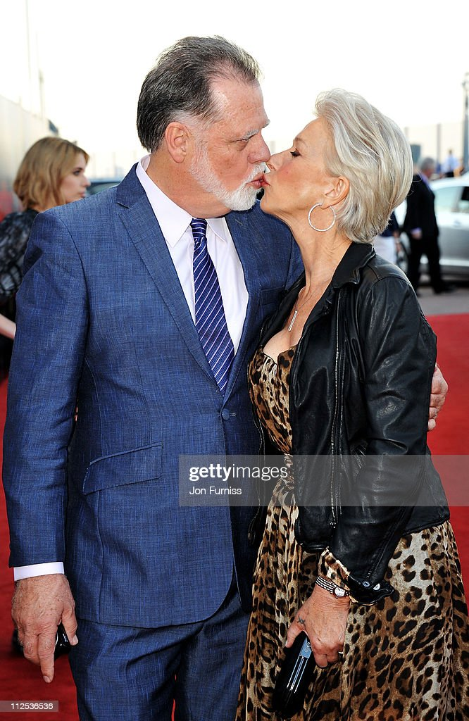 Filmmaker Taylor Hackford and actress Helen Mirren attend the 'Arthur' European premiere at Cineworld 02 Arena on April 19 2011 in London England