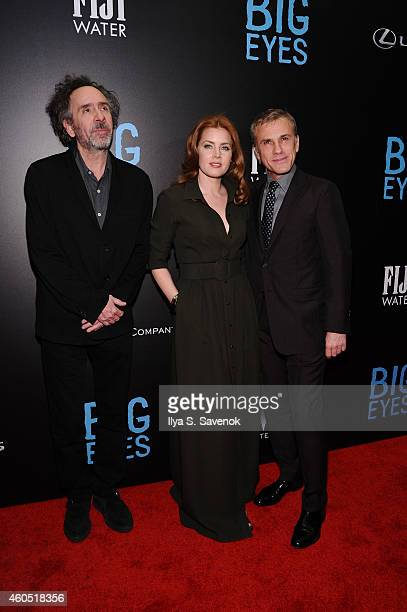 Filmmaker Tim Burton and actors Amy Adams and Christoph Waltz attend The New York Premiere Of BIG EYES at Museum of Modern Art on December 15 2014 in...