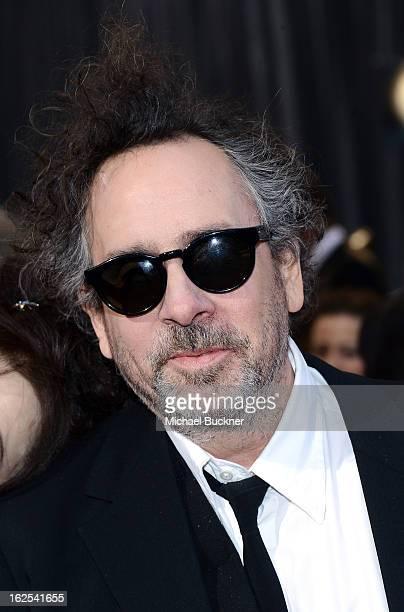 Filmmaker Tim Burton arrives at the Oscars at Hollywood Highland Center on February 24 2013 in Hollywood California