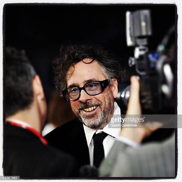 Filmmaker Tim Burton attends the opening night film of the 56th BFI London Film Festival 'Frankenweenie 3D' at Odeon Leicester Square on October 10...