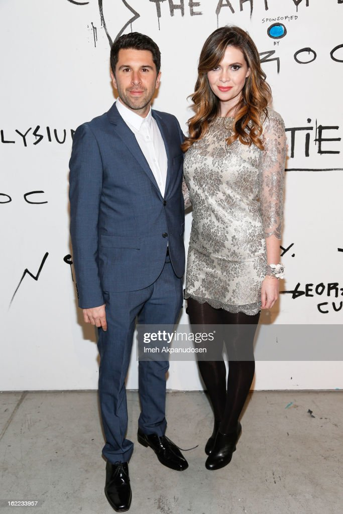 Filmmaker Todd Gallagher (L) and actress <a gi-track='captionPersonalityLinkClicked' href=/galleries/search?phrase=Carly+Steel&family=editorial&specificpeople=3963749 ng-click='$event.stopPropagation()'>Carly Steel</a> attend The Art Of Elysium's 6th Annual Pieces Of Heaven Powered By Ciroc Ultra Premium Vodka at Ace Museum on February 20, 2013 in Los Angeles, California.