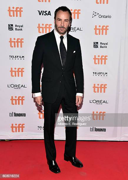Filmmaker Tom Ford attends the 'Nocturnal Animals' premiere during the 2016 Toronto International Film Festival at Princess of Wales Theatre on...