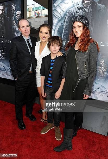 Filmmaker Tom Hammock actors Haley Lu Richardson Max Charles and Nicole Fox attend the opening night premiere of 'Snowpiercer' during the 2014 Los...