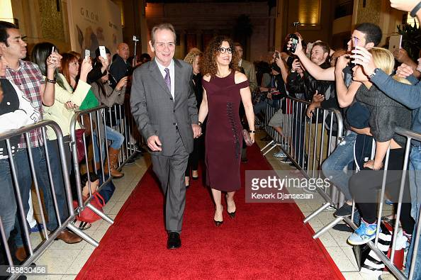 Filmmaker Tommy Lee Jones and photographer Dawn LaurelJones attend the screening of 'The Homesman' during AFI FEST 2014 presented by Audi at Dolby...