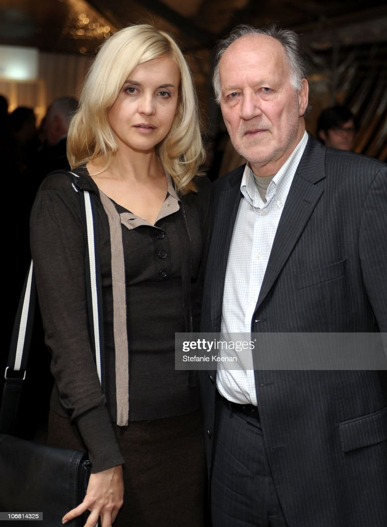 Filmmaker Werner Herzog  R  and wife Lena Herzog attend  The Artist s