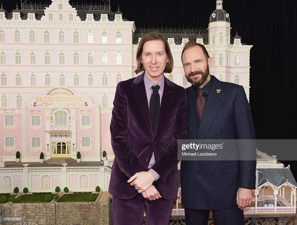 Filmmaker <a gi-track='captionPersonalityLinkClicked' href=/galleries/search?phrase=Wes+Anderson&family=editorial&specificpeople=217728 ng-click='$event.stopPropagation()'>Wes Anderson</a> (L) and actor <a gi-track='captionPersonalityLinkClicked' href=/galleries/search?phrase=Ralph+Fiennes&family=editorial&specificpeople=206461 ng-click='$event.stopPropagation()'>Ralph Fiennes</a> attend the 'The Grand Budapest Hotel' New York Premiere at Alice Tully Hall on February 26, 2014 in New York City.