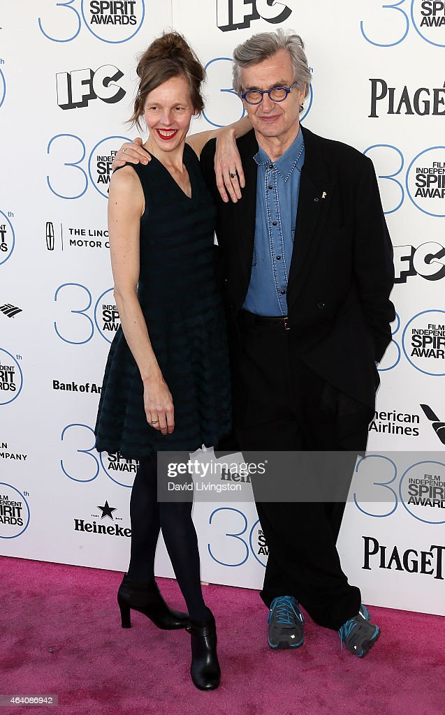 Filmmaker Wim Wenders and Donata Wenders attend the 2015 Film Independent Spirit Awards on February 21 2015 in Santa Monica California