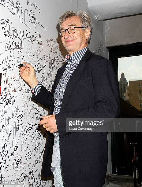 Filmmaker Wim Wenders attends the AOL Build Speaker Series at AOL Studios In New York on August 31 2015 in New York City
