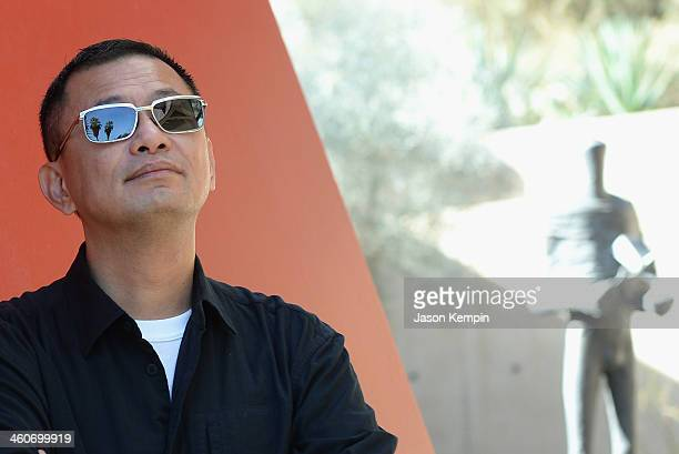 Filmmaker Wong Karwai attends the 25th Annual Palm Springs International Film Festival Talking Pictures Wong Kar Wai at the Annenberg Auditorium on...