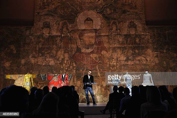 Filmmaker Wong Karwai speaks during The Metropolitan Museum Of Art's 'China Through The Looking Glass' press presentation at Metropolitan Museum of...