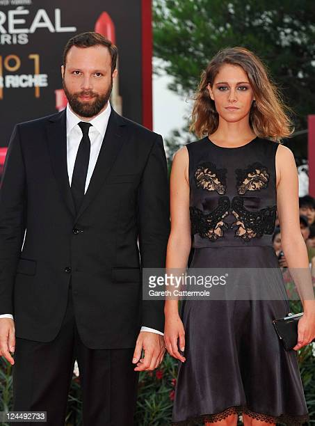 Filmmaker YorgosLanthimos and actress Ariane Labed attend the 'Damsels In Distress' premiere and closing ceremony during the 68th Venice Film...
