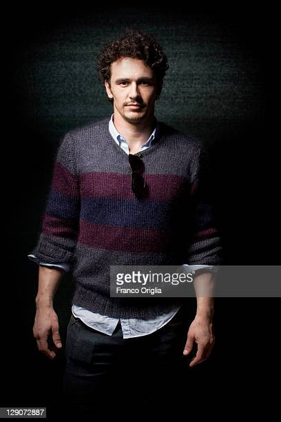 Filmmaker/actor James Franco poses during the 68th Venice Film Festival on September 3 2011 in Venice Italy