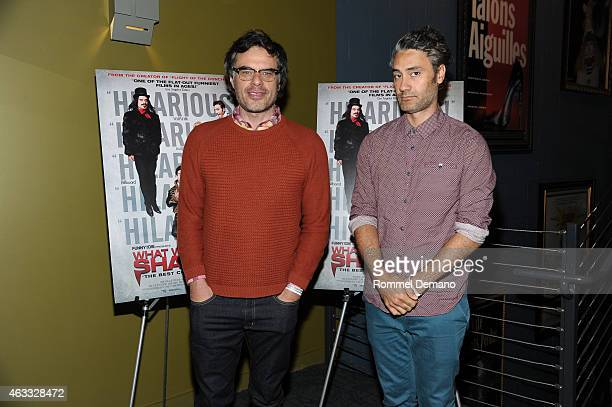 Filmmaker/Actor Jemaine Clement and Taika Waititi attend the New York special screening of 'What We Do In The Shadows' at Landmark Sunshine Theater...
