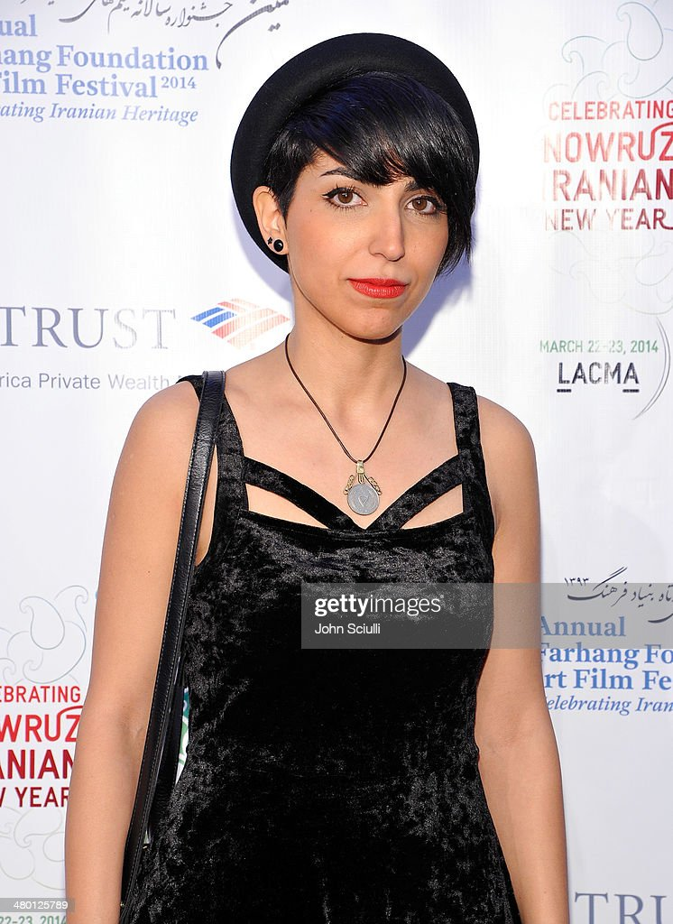 Filmmaker/Actress Taravat Khalili attends the 6th Annual Farhang Foundation's Short Film Festival award ceremony and reception at LACMA on March 22, 2014 in Los Angeles, California.