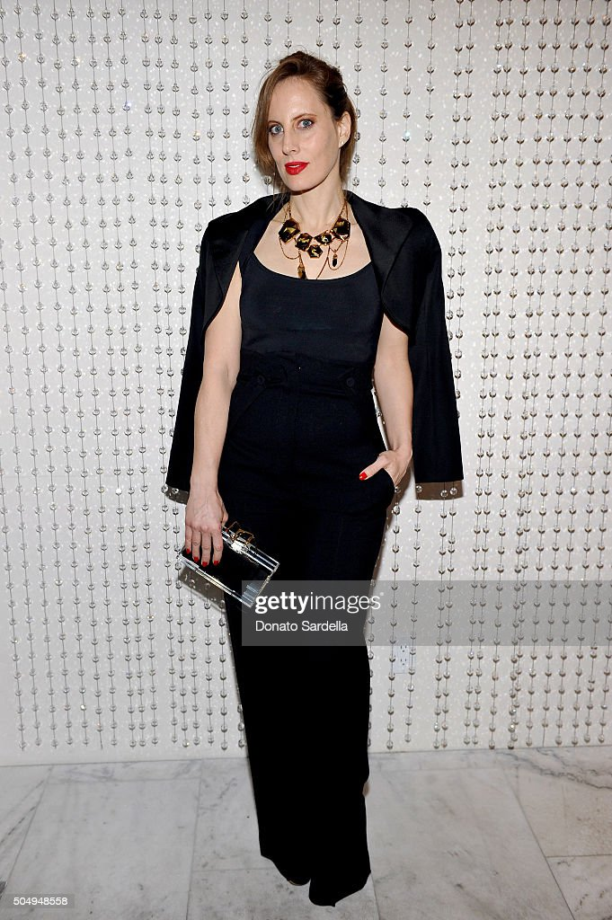 Filmmaker/artist Liz Goldwyn attends the Galvan For Opening Ceremony Dinner Hosted By Swarovski at Private Residence on January 13, 2016 in Los Angeles, California.