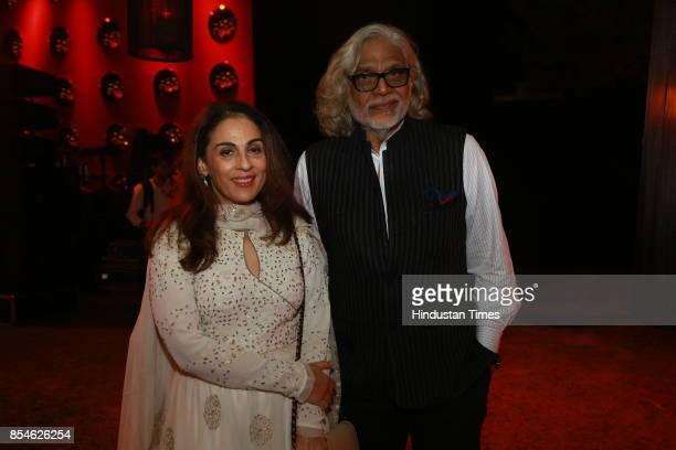 Filmmakerdesigner Muzaffar Ali during an art exhibition organised by veteran artist Satish Gujral on September 22 2017 in New Delhi India At the...