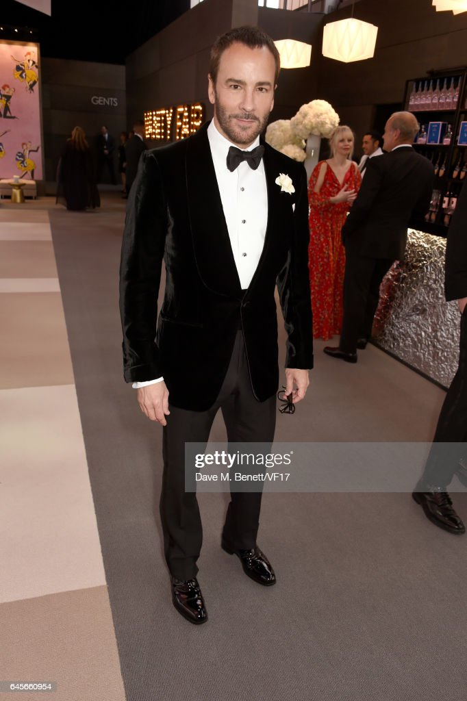 Filmmaker-fashion designer Tom Ford attends the 2017 Vanity Fair Oscar Party hosted by Graydon Carter at Wallis Annenberg Center for the Performing Arts on February 26, 2017 in Beverly Hills, California.