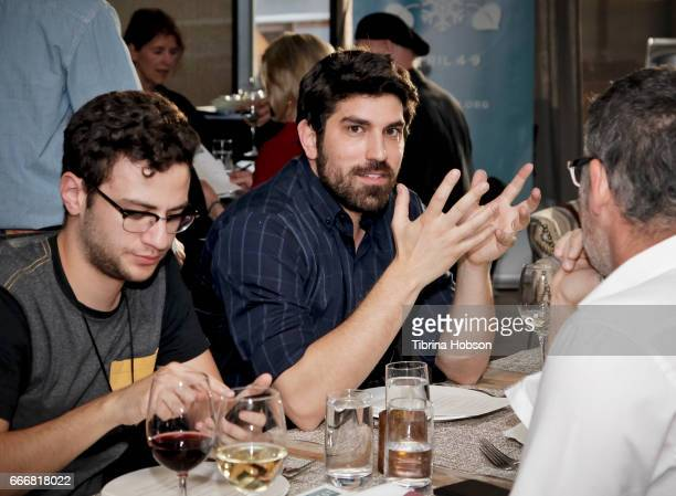 Filmmakers Alejandro Roca Rey Ariel Reuven Rosenstein and Sebastien Maitre attend the 2017 Aspen Shortsfest Awards Dinner on April 9 2017 at Aspen...