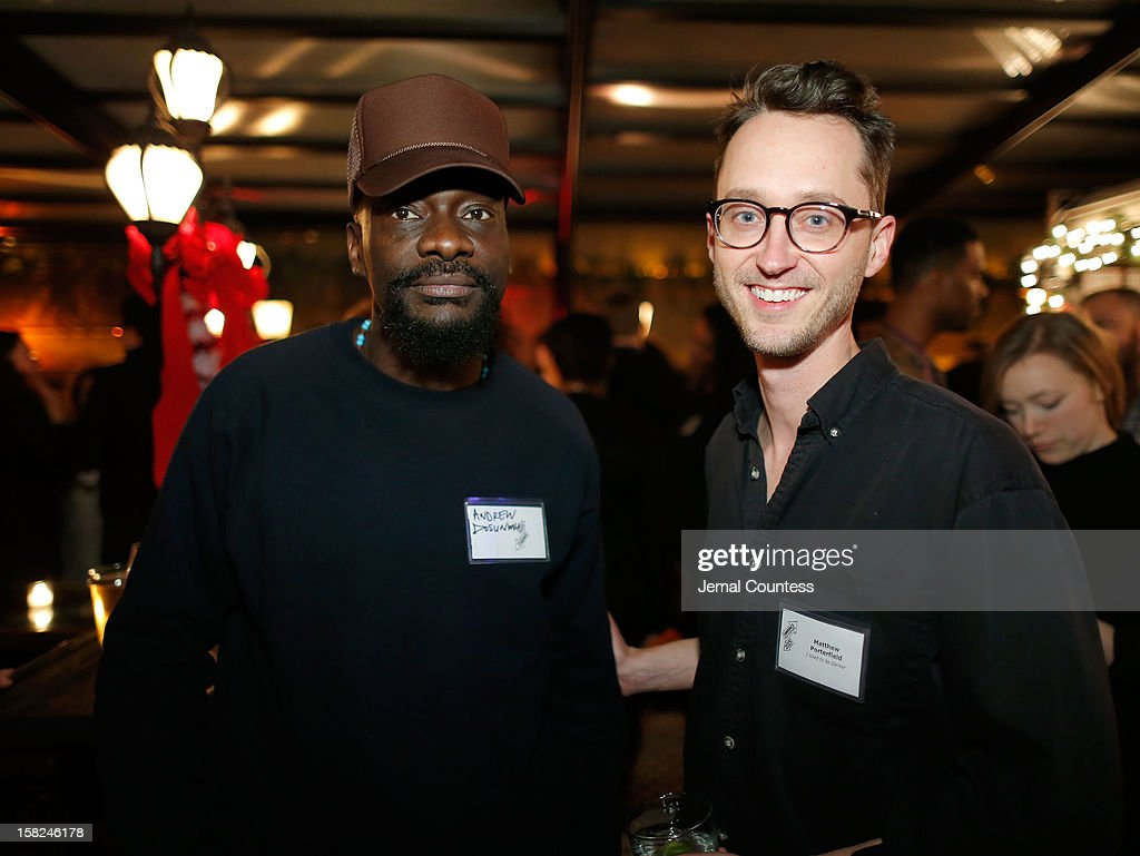 Filmmakers Andrew Dosunmu and Matthew Porterfield attend the 2012 Sundance Film Festival Filmmaker Orientation at Hotel Chantelle on December 11, 2012 in New York City.