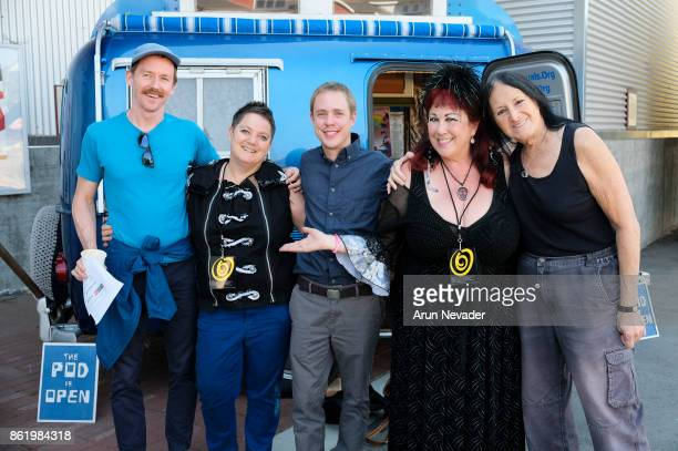 Filmmakers Annie Sprinkle and Beth Stephens appear with Festival Programmer Logan Walker Producer Keith Wilson and Narrator Sandy Stone for their...
