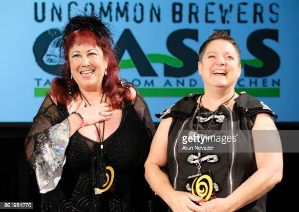 Filmmakers Annie Sprinkle and Beth Stephens introduce their film Water Makes Us Wet at the Santa Cruz Film Festival at Tannery Arts Center on October...