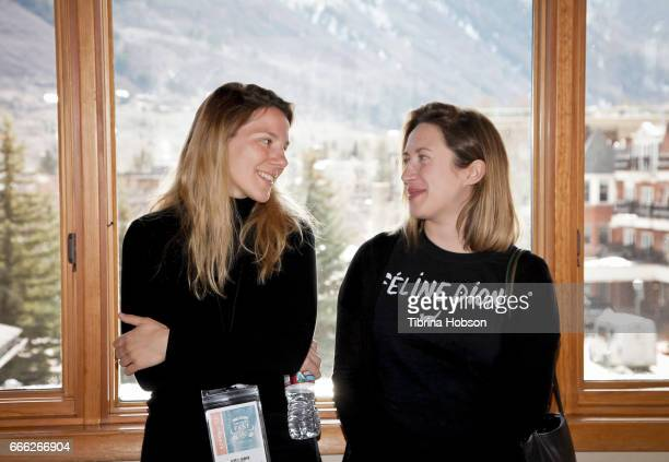 Filmmakers Antoneta Alamat Kusijanovic and Ariane LouisSeize attend the 2017 Aspen Shortsfest filmmakers breakout sessions on April 7 2017 at...
