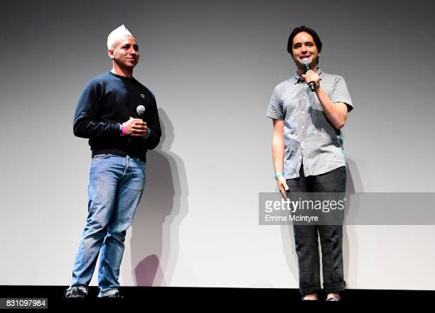 Filmmakers Antonio Santini and Dan Sickles speak onstage at 2017 Sundance NEXT FEST at The Theater at The Ace Hotel on August 13 2017 in Los Angeles...