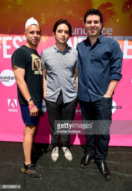 Filmmakers Antonio Santini Dan Sickles and EVP of The Orchard Paul Davidson attend 2017 Sundance NEXT FEST at The Theater at The Ace Hotel on August...