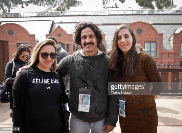 Filmmakers Ariane LouisSeize Thanos Papastergiou and Sandrine BrodeurDesrosiers attend the 2017 Aspen Shortsfest filmmakers breakout sessions on...