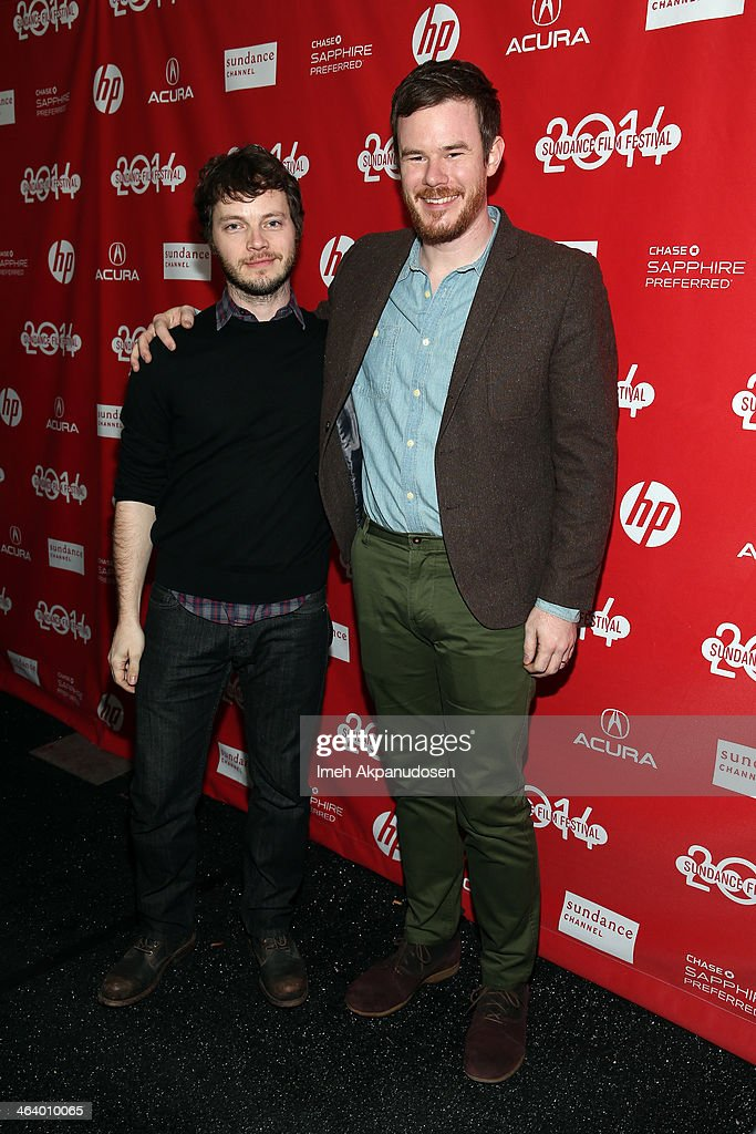 Filmmakers Ben Richardson (L) and Joe Swanberg attends the 'Happy Christmas' premiere at Library Center Theater during the 2014 Sundance Film Festival on January 19, 2014 in Park City, Utah.