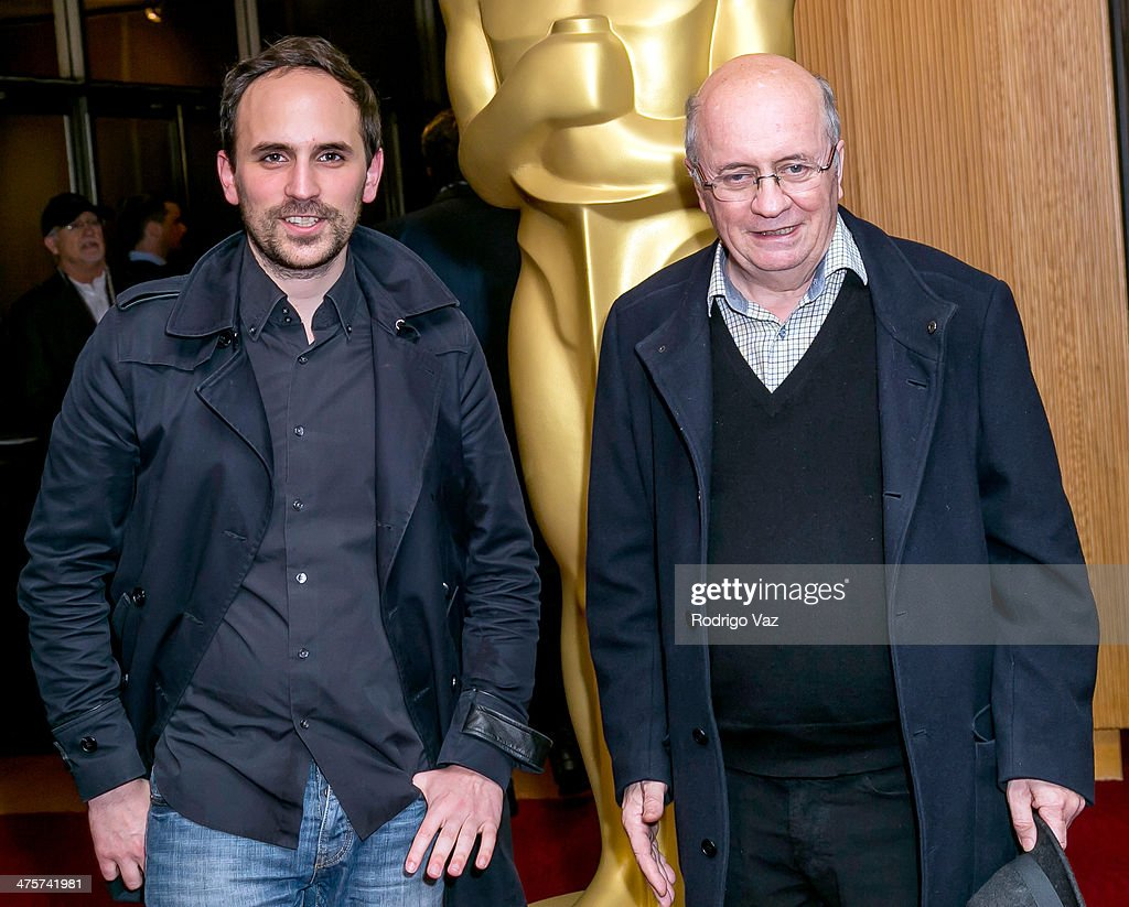 Filmmakers <a gi-track='captionPersonalityLinkClicked' href=/galleries/search?phrase=Benjamin+Renner&family=editorial&specificpeople=9704634 ng-click='$event.stopPropagation()'>Benjamin Renner</a> (L) and Didier Brunner attend the 86th Annual Academy Awards Oscar Week Celebrates Animated Features at AMPAS Samuel Goldwyn Theater on February 28, 2014 in Beverly Hills, California.