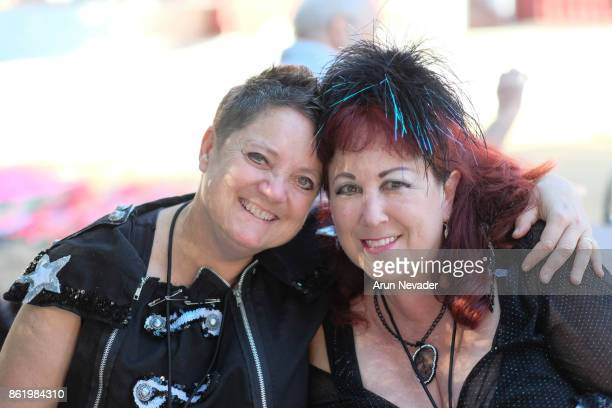 Filmmakers Beth Stephens and Annie Sprinkle attend their after party following the screening of their film Water Makes Us Wet at the Santa Cruz Film...