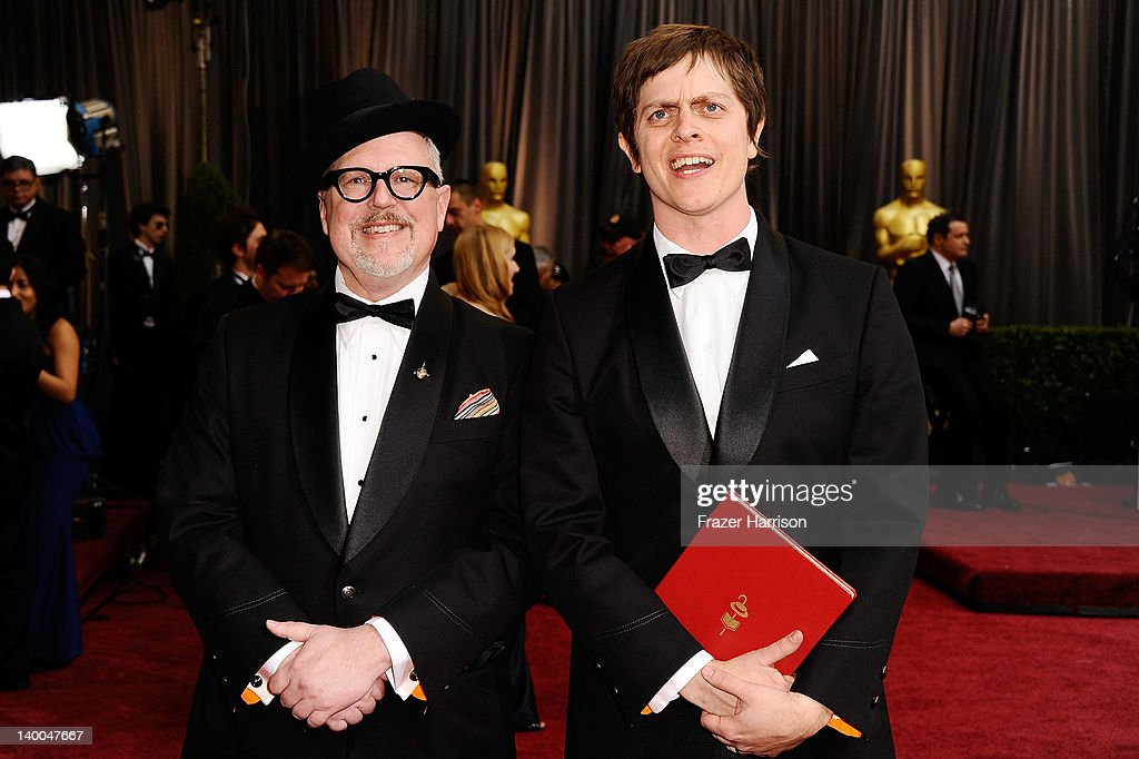 Filmmakers Brandon Oldenburg and William Joyce arrive at the 84th Annual Academy Awards held at the Hollywood & Highland Center on February 26, 2012 in Hollywood, California.