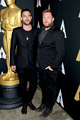 Filmmakers Bryn Mooser and David Darg attend the 88th Annual Academy Awards Oscar Week celebrates documentaries at AMPAS Samuel Goldwyn Theater on...