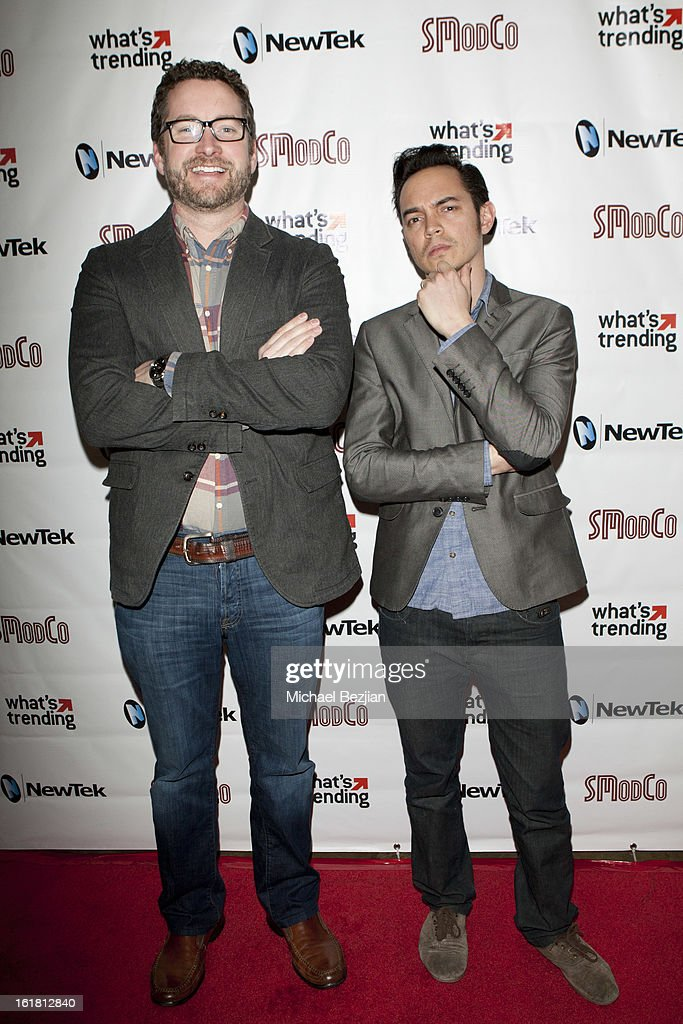 Filmmakers Burnie Burns and Beau Ryan attend The Future Of Online Television at What's Trending Studios on February 15, 2013 in Los Angeles, California.