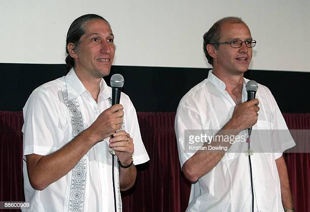 Filmmakers Carlos Hagerman and Juan Rulfo attend the 2009 Los Angeles Film Festival's screening of 'Those Who Remain' held at the Mann Festival...