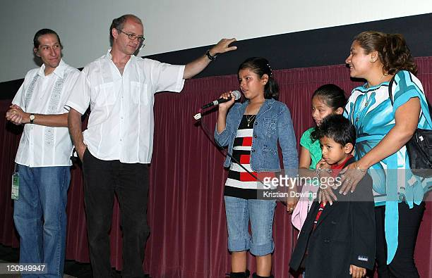 Filmmakers Carlos Hagerman Juan Rulfo and Panduro family attend the 2009 Los Angeles Film Festival's screening of 'Those Who Remain' held at the Mann...