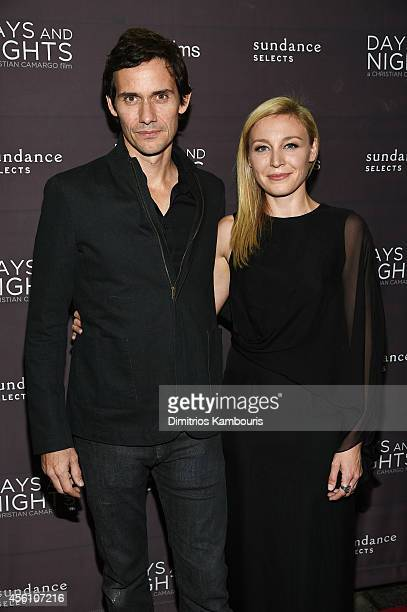 Filmmakers Christian Camargo and Juliet Rylance attend the premiere of 'Days And Nights' at the IFC Center on September 25 2014 in New York City
