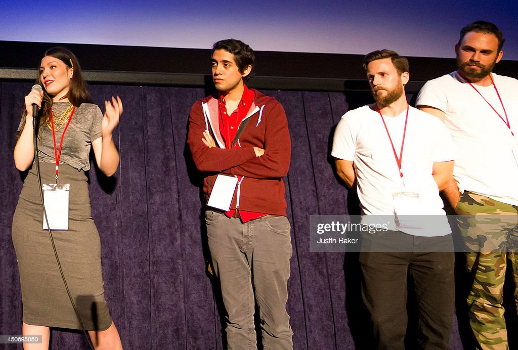 Filmmakers Claire Marie Vogel, Carlos Lopez Estrada, Devon Gibbs and Tomas Whitmore speak onstage at Eclectic Mix 1 during the 2014 Los Angeles Film Festival at Regal Cinemas L.A. Live on June 13, 2014 in Los Angeles, California.